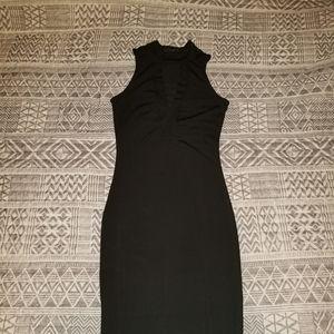 Sexy slim fit black dress